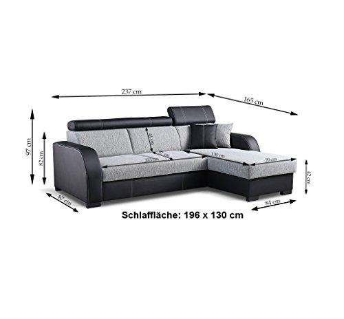 Ecksofa günstig: Couch  Schlaffunktion Eckcouch Bild 3*