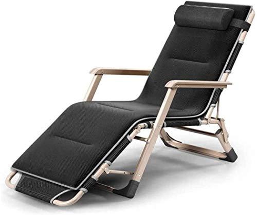 Tumbona, sillas de jardín cero gravedad silla Patio plegable playa jardín camping pesca reclinable silla ajustable, reposacabezas desmontable, piscina reclinable, soporte para 200 kg