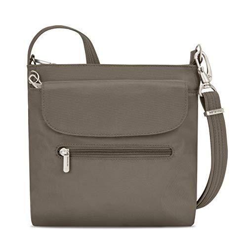 Travelon Women's Anti-Theft Classic Mini Shoulder Bag Sling Tote, Nutmeg,...
