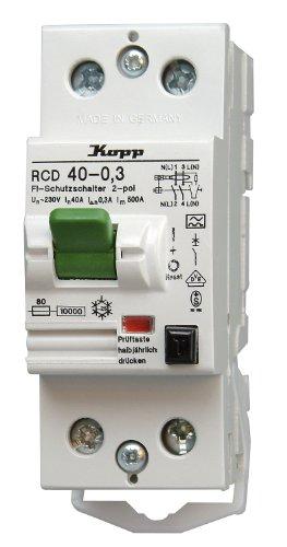 Kopp 754023083 Fehlerstromschutzschalter, 2-polig nach DIN VDE 0664