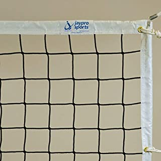 Jaypro Sports PVBN-5 Volleyball Net 3.5 mm Knotless Poly with Plateena Cord