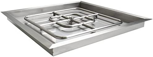 onlyfire Square Stainless Steel Deluxe Sales Drop-in and Pit Ring Fire Burner