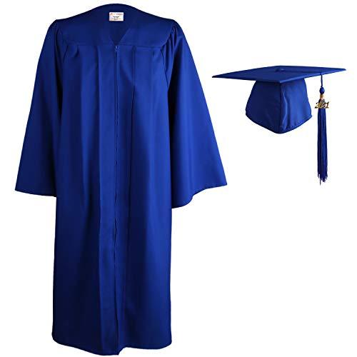 OSBO GradSeason Unisex Matte Adult Graduation Gown Cap Tassel Set