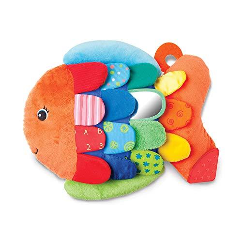 Melissa & Doug Flip Fish Baby Toy (Developmental Toy, Squeaker Tail, Shatterproof Mirror, Washable...