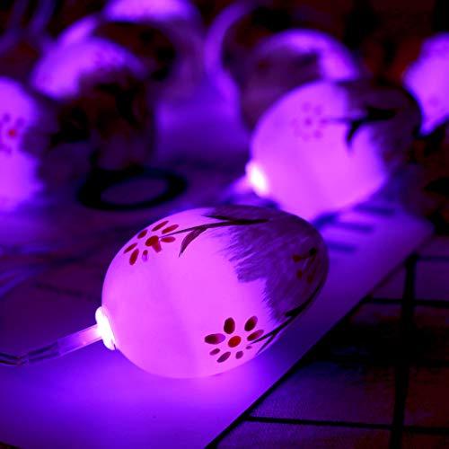 1,65 m 10 Lichter Lampe LED Lichterketten Transparente Ostereier Dekorative Lichterkette Ostern Sonntag Dekoration Zubehör Party Supplies Garten Dekoleuchte