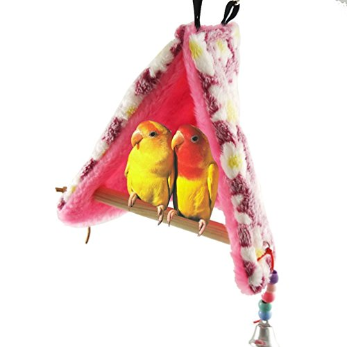 Nido de pájaro cálido para el invierno con perchas para...