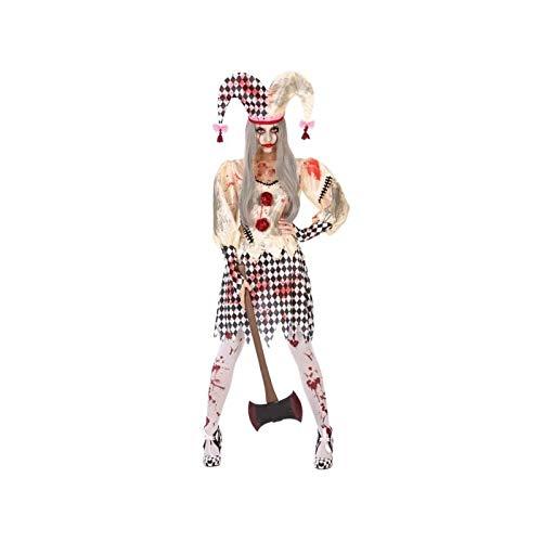 Atosa-55542 Disfraz Arlequin Sangriento Para Mujer Adulto, color beige, M-L (55542)