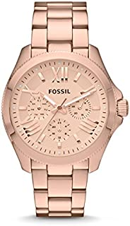 Fossil Cecile For Women Rose Gold Dial Stainless Steel Band Watch Am4512, Analog