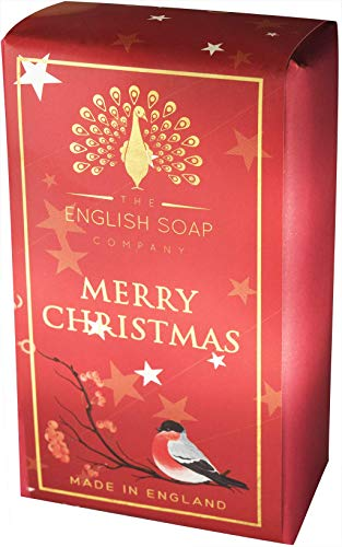 The English Soap Company, Pure Indulgence Merry Christmas, Shea Butter Soap | Moisturising Bath Soap For Hydrating Skin With Shea Butter | Soap For Dry Skin, Damaged Skin & Sensitive Skin | 200g