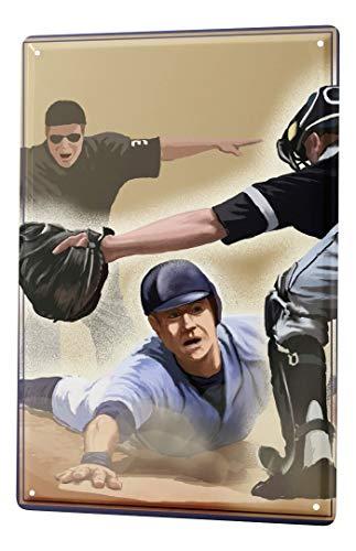 LEotiE SINCE 2004 Plaque en Métal Métallique Poster Mural tin Sign Retro Déco Baseball de Base