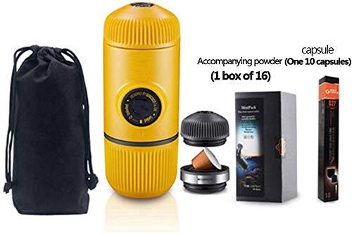 Portátil for preparar café espresso Viene equipada con adaptador NS versión de actualización de Minipresso compacto de viaje 18 bar de presión de operación manual perfecto for acampar y Aventura, Nara