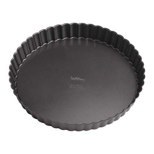 Wilton Perfect Results Premium Non-Stick Bakeware Round Tart and Quiche Pans, Sunday Brunch May...
