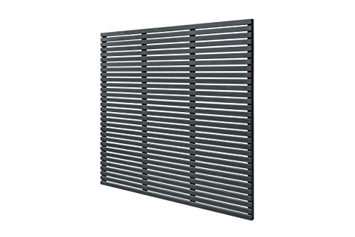Forest 6ft x 6ft (1.8m x 1.81m) Contemporary Slatted Fence Panel - Anthracite Grey