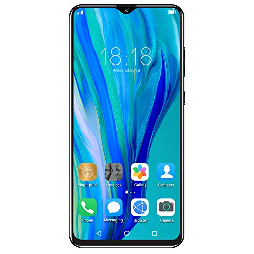 214 Smartphone, teléfono móvil con reconocimiento Facial de Huellas Dactilares de 6,52 Pulgadas, teléfono móvil con Doble Modo de Espera P40Plus, para Android 6.0, 3 + 32G 100‑240V(EU)