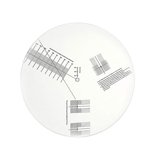 Catyrre Anti-Rutsch-Vinyl-Schallplatten-Tonabnehmer Kalibrierplatte Distanzmesser Winkelmesser Einstellwerkzeug Lineal für Plattenspieler-Zubehör
