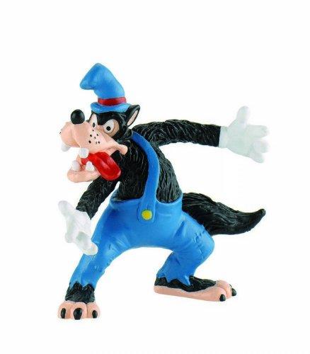 Bullyland 12493 - Figura de Juego, Walt Disney 3 cerditos, Ede Wolf, Aprox. 8 cm de Altura, Figura Pintada a Mano, sin PVC, para Que los niños jueguen de Forma imaginativa