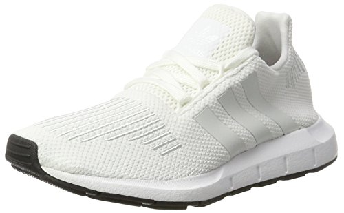 adidas Swift Run J, Zapatillas de Running Unisex Niños, Blanco (Footwear White/Crystal White/Core Black), 39 1/3 EU