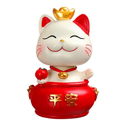 SOIMISS Maneki Neko Money Lucky Cat Feng Shui Decor Chinese Japanese Statue Gato de La Suerte Moneda Banco para La Riqueza Good Luck