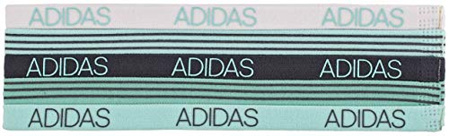 adidas Women's 5pk Creator Hairband, Radiant Aqua/Fresh Green/Onix/White,...