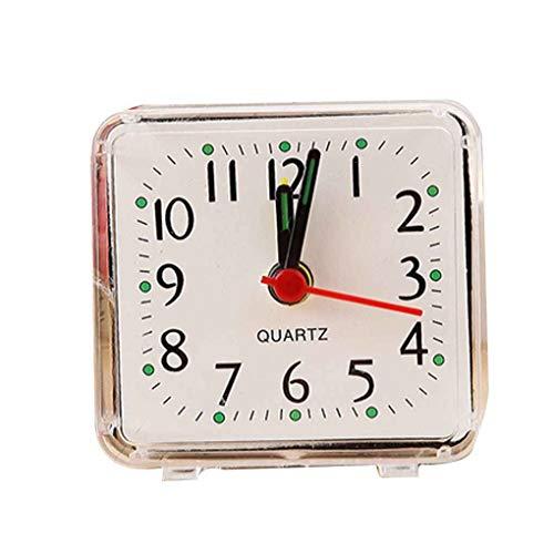 Quadratische kleine Bett Wecker transparent Fall kompakte Reise Uhr Mini Kinder Student Schreibtisch Uhr stilvoll und beliebt
