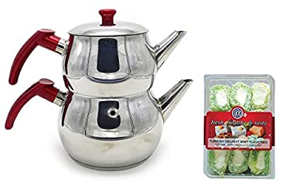 Stainless Steel Turkish Tea Pot (Size No:1)
