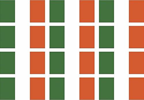 12-2'x1.2' Ireland Flag Decal Irish Celtic Vinyl Hard Hat Helmet Sticker Car Bumper Window