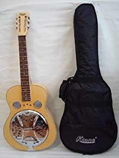 Ktone Acoustic Electric Square Neck Resonator, 4 Band Eq, Natural, Free Gig Bag, New
