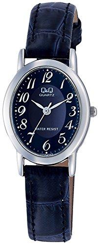 [シチズン Q&Q] 腕時計 アナログ 防水 革ベルト VZ89-305 レディース ネイビー