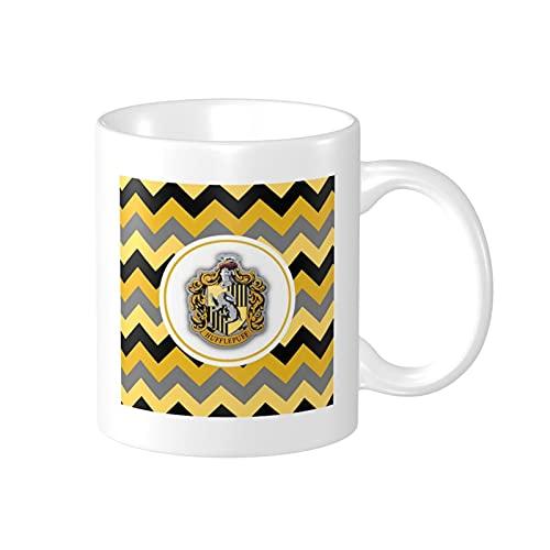 Harry Potter Hufflepuff 330ml Taza de café de cerámica divertida Taza de cerámica Regalos de la hija Hijo