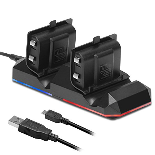 Xbox One Battery Charging Dock KingTop Dual Charger Station