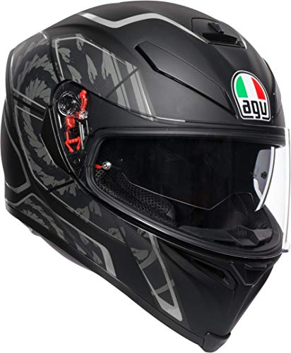 CASCO INTEGRALE AGV K-5 S TORNADO BLACK - SILVER (MS)