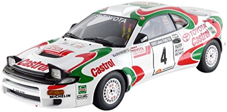 Top Marken Collectibles- top34d–Toyota Celica GT4–1000Lakes Rally Winner 1993–Wei Rot Grün–Mastab 1 18