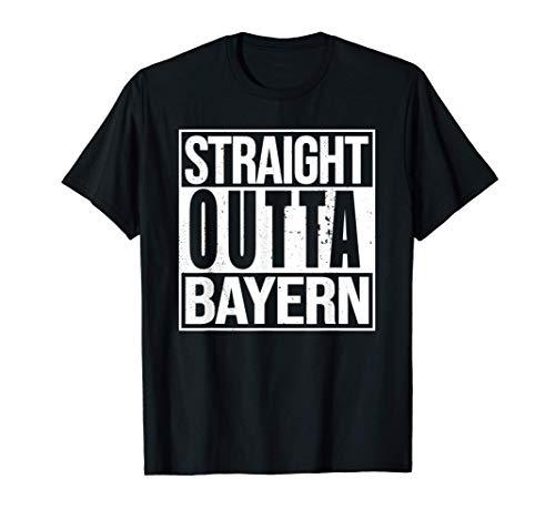 Straight Outta Bayern I Tracht I Trikot I T-Shirt Idee T-Shirt