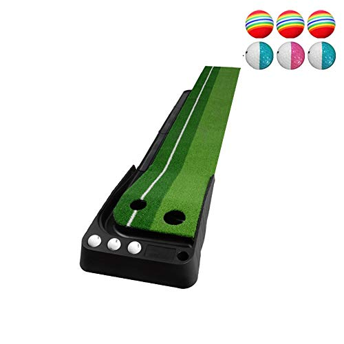 Lowest Price! Green System Professional Golf Practice Mat Green Long Challenging Putter With 6 Balls...