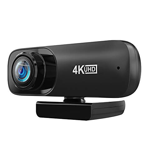 Webcam with Microphone with Automatic Face Beauty Feature 4K HD Streaming USB Computer Webcam [Plug and Play] [60fps] for PC Video Conferencing/Calling/Laptop/Desktop Mac, Skype/YouTube/Zoom/Facetime