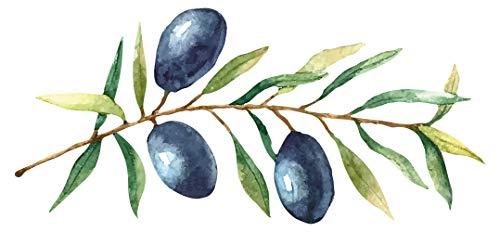 Wandtattoo Küche Obst Gemüse Wandtattoo Mediterrane Oliven am Strauch mit zarte