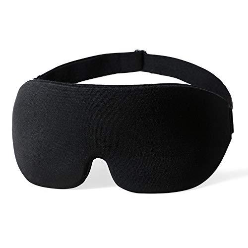 Femometer Máscara de dormir para Hombres y Mujeres, Contorno en 3D Máscara de dormir con correa ajustable, Antifaz suave y cómodo para garantizar el descanso durante siestas