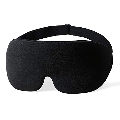 Femometer Schlafmaske für Männer Frauen, hautfreundliche Augenmaske 3D konturierte Schlafbrille, 100% lichtdicht, verstellbarem Gurt, weich für Reisen, Schichtarbeit, Nickerchen und zu Hause