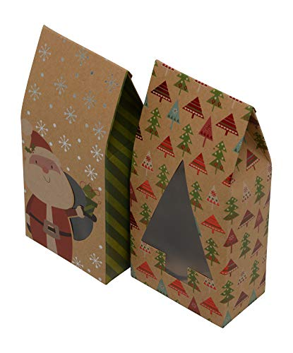 Christmas cookie tent boxes | set of 12 boxes