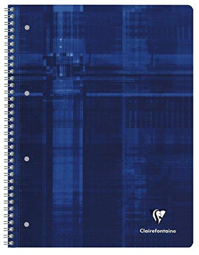 Clairefontaine 5 x Spiralbuch A4 Agebag liniert mit Rand 50 Blatt schwarz