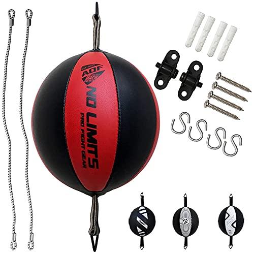 AQF Speedball in Pelle Doppia estremità Sacco da Boxe MMA Boxe Posizionamento a Soffitto Speed Bag Pugno Allenamento