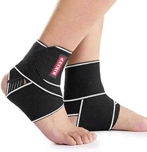 Ankle Support,Adjustable Ankle Brace Breathable Nylon Material Super Elastic and Comfortable,1 Size Fits all, Suitable for Sports (Gray(1 Pair))
