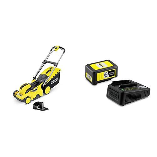 Kärcher LMO 36-40 Battery Akku-Rasenmäher Starter Kit (Akku: 36 V / 5,0 Ah, Schnittbreite 40 cm, Schnitthöhe 20-70 cm, 50 Liter Fangkorb, inkl. Mulchkeil, Flächenleistung je Akkuladung 550 qm)