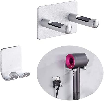 Hairdryer Holder Self Adhesive Hair Dryer Wall Mount Holder for Dyson Supersonic Hair Dryer product image