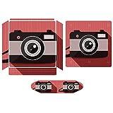 赤い カメラ 旅行 for PS4 ッチ カバー グリップケース ハードバック 保護カバーに ステッカー