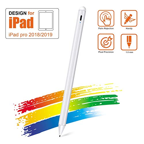 ORIbox Stylus Pen for iPad with Palm Rejection, Compatible with (2018-2020) Apple iPad Pro (11/12.9 Inch),iPad 6th/7th Gen,iPad Mini 5th Gen,iPad Air 3rd Gen for Precise Writing/Drawing