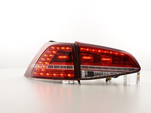 FK Automotive FK Rückleuchten LED Heckleuchten Rückfahrscheinwerfer Rücklichter Set rot/klar FKRLXL15010
