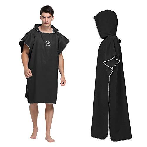 Yesloo Poncho de surf, toalla de microfibra de secado rápido, para adultos, poncho, toalla para adultos, para surf, natación, traje de neopreno