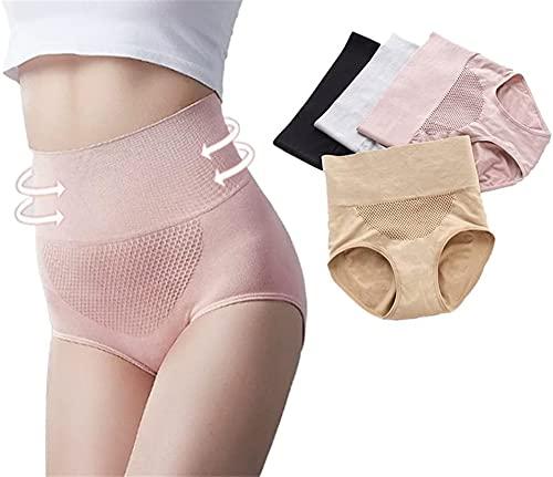 2pcs Health Magic Pants Knickers,Ropa interior moldeadora para el control de la barriga para las mujeres,masaje de cadera hasta la cintura alta 3D nido de abeja bragas (Rosa)