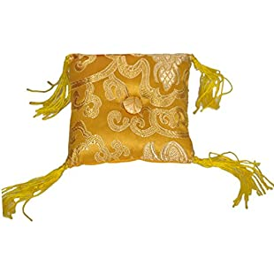 Tibetan Singing Bowl Cushion (Yellow):Maskedking